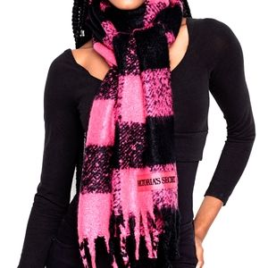 Victoria's Secret Fuchsia Buffalo plaid scarf